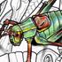 Insectes scarabée sauterelle