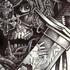 surpirse samourai squelette stylo bille